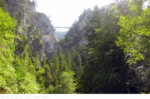 Hiking the Canyons below Neuschwanstein Castle, photo Tara