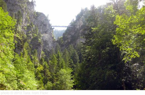 Hiking the Canyons below Neuschwanstein Castle, photo Tara